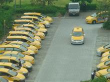 台湾のタクシー溜り・・