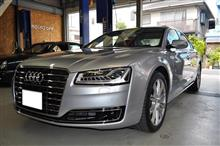Audi A8(4H) 4.0T P-SYS TVキャンセラー取り付け