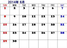 6月分のシフト表♫