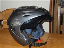 やっぱし寿命だったヘルメット
