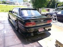 ローレル洗車。