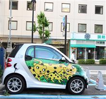 【写真】smart fortwo electric drive(ZAA-451390) ヒョウ柄?