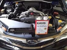 インプレッサのエンジンオイル交換(SUSTINA)
