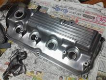 「ヘッドカバー をピッカピカに!」 G13Bエンジン シリンダーヘッドオーバーホール(10)