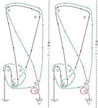 バトルジムカーナRd.2のコース図