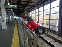 東北新幹線で仙台まで移動中