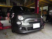 FIAT500 TwinAir 車高調キット 取り付け!