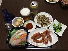 日替わり丼+ウインナー+しめじ