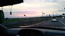 今日は夕焼けが綺麗でした