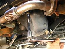 Defi C2_油温油圧ブースト計_オイルブロック無しで設置/その3_油温センサ装着
