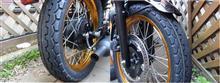 ようやく晴れました♪ さっそくバイクのタイヤ交換です。(#^.^#)