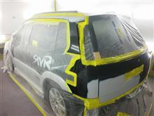 東京都 日野市よりご来店 三菱 RVRの板金・塗装・修理です。