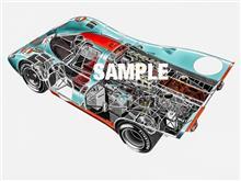 このフォードGT40のアートはガルフの正式ポスターになりました。