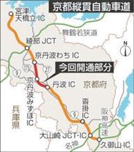 京都縦貫自動車道、開通