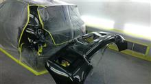 東京都 立川市よりご来店 トヨタ ヴィッツの板金・塗装・修理です。