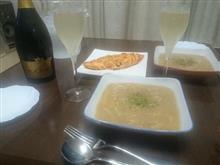 今日のしぇ夫(ジャガイモスープとトマトオムレツ)