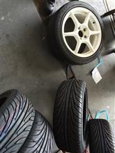 タイヤ組み換え♪