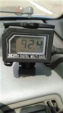 ラジエーターコア二層32mm放熱塗装、水温計データ