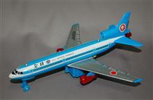 TOTトーイ、ブリキ製、フリクション走行 全日空 L1011トライスター、