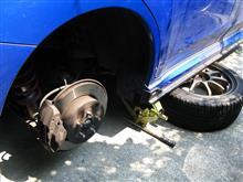 [エクシーガtS] 車検前整備・ブレンボ用リヤパッドの交換・前編(プロジェクトμ)
