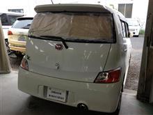 東京都 多摩市よりご来店 トヨタ bBの板金・塗装・修理です。