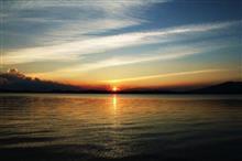 夕陽を見ると和むわ