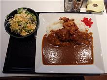 阪神高速5号湾岸線中島PA 唐揚げカレーライス(サラダ付き)830円