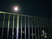 ベランダからの月見