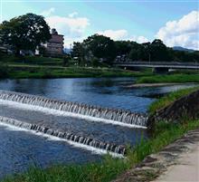 京都鴨川でお散歩(^^)
