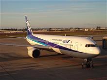 このジャンボ機で仙台から大阪に帰ります♪