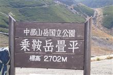 2702メートル畳平 乗鞍山頂小屋の様子