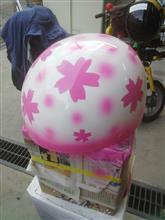 ヘルメット塗ってみました。