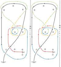バトルジムカーナin筑波 Rd.3のコース図