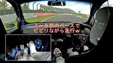 【動画】ちょい濡れ路面にびびるモン吉w
