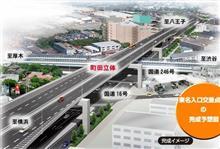 (国道16号・町田立体事業)やっと246号の上に橋梁が架設されました