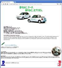 第31回東京モーターショー(1995年)マーチカブリオレのサイト