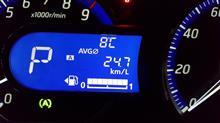 eKカスタム今日の燃費計