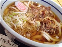 新静岡SAの牛肉うどん