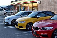 Audi S1&S3早朝ツーリングに顔見せ
