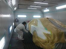 210系クラウン!!ワンオフオーバーフェンダー製作!ボディの塗装完了!!!