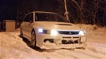 今シーズン初の雪ドラ