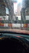深夜に洗車...