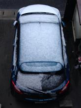 雪の影響…
