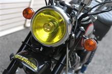 モンキーのヘッドライトをマーシャルのイエロータイプに交換