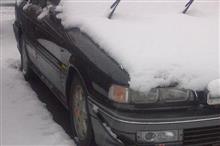 雪積もって除雪