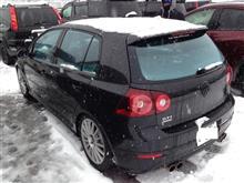 車高短 ゴルフ 5 GTI でスノーボードに行ってきた。