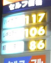 ガソリン価格が・・・?