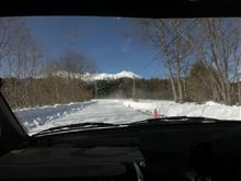 御岳スノーランドの雪道走ってきました
