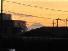 夕焼け富士山(^_^)
