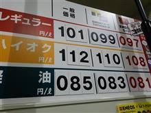 今日のガソリン価格!